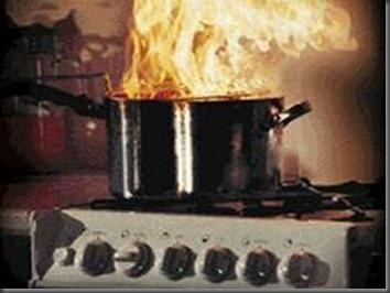 food in fire