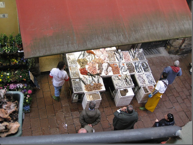 Pescheria Brunelli outside Hotel Window